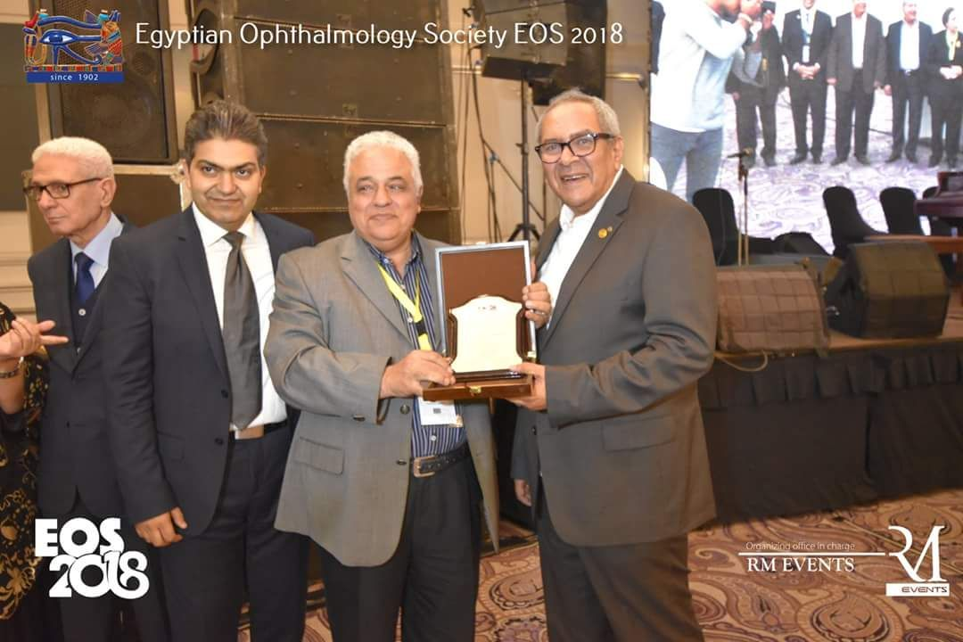 The Egyptian Ophthalmological Soceity honored Dr. Ossama Abbas