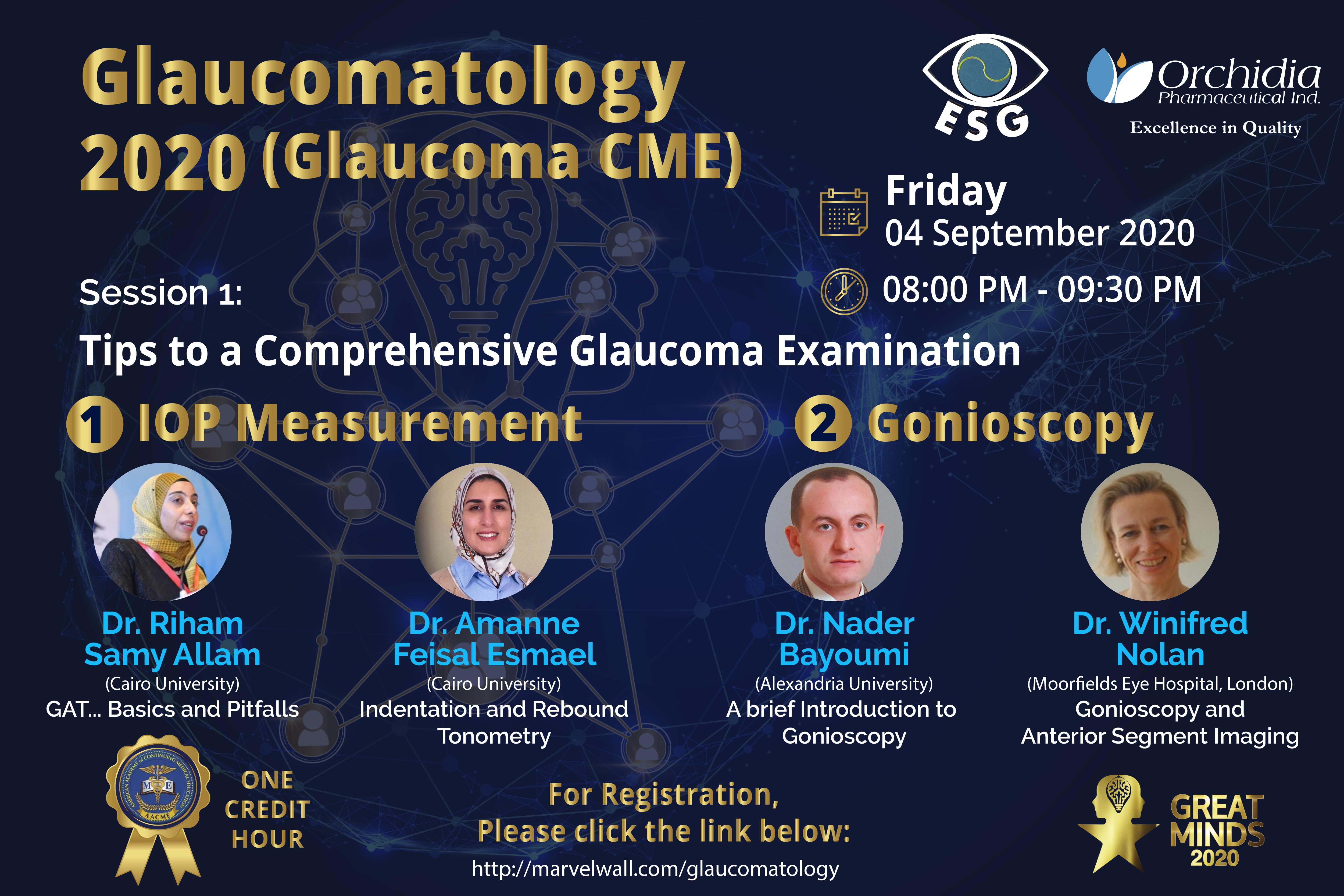 The first wave of Glaucomatology  2020